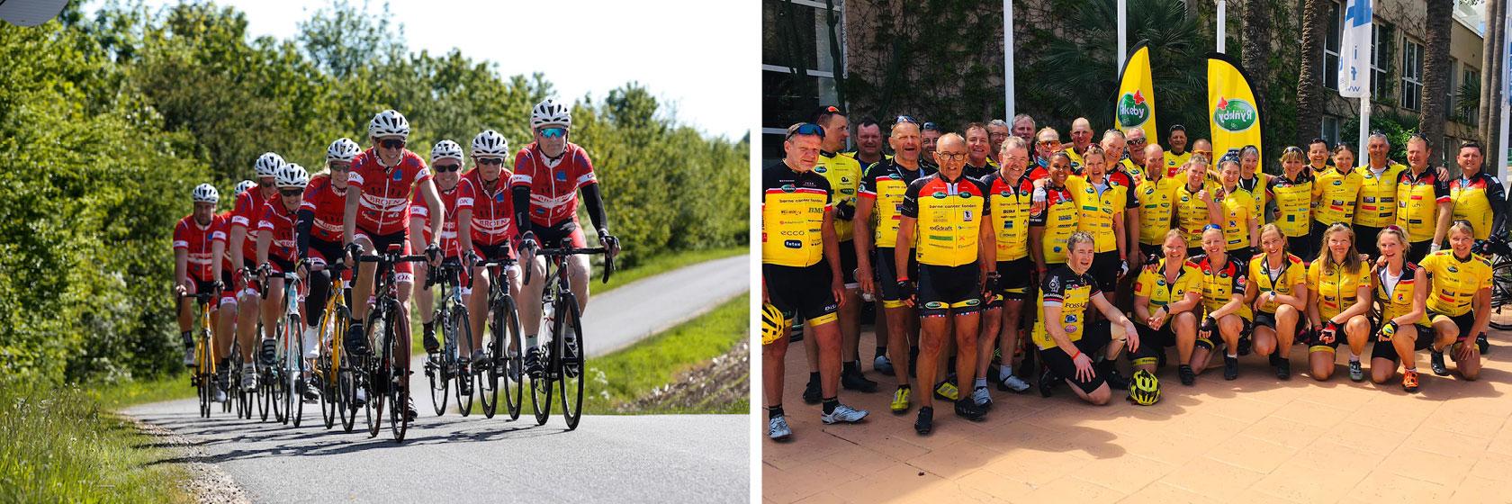 Cykelrejser for grupper, klubber og virksomheder